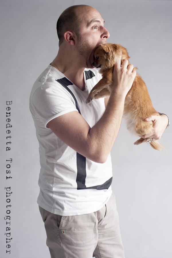 foto con il proprio cane