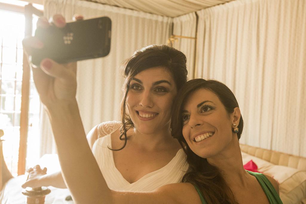 selfie con sposa